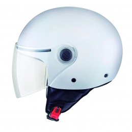 Casco Mt Street Solid  Blanco